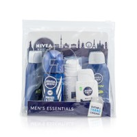 NIVEA - MEN'S ESSENTIALS Energy Shower Gelx2 (50ml) & Protect & Care Anti-Perspirant (50ml) & Sensitive Shaving Foam (35ml) & Sensitive After Shave Balm (30ml)