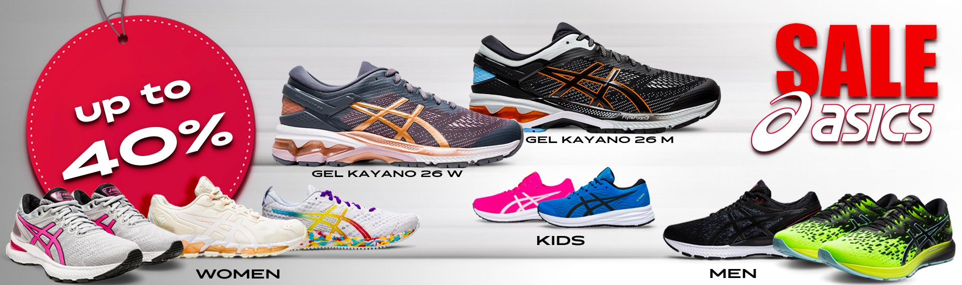 Asics shoes up to 40%