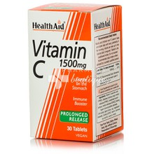 Health Aid Vitamin C 1500mg, 30 P. R. tabs