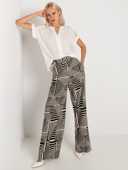 Black & white loose fit pants