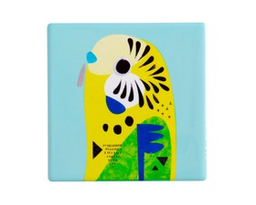 Maxwell & Williams Σουβέρ Κεραμικό Pete Crome Budgerigar 9,5Χ9,5cm
