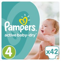 Pampers Active Baby Dry No4 (Maxi) 42 Πάνες 8-14kg
