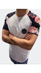 T-Shirt with floral sleeves