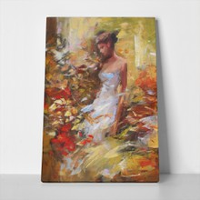Female in the forest handmade painting 405245302 a