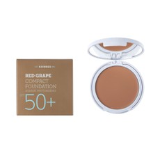 Korres Κόκκινο Σταφύλι Compact Foundation SPF50+ Medium Sunglow 8gr. Make-Up σε μορφή compact με μη λιπαρή και ελαστική υφή.
