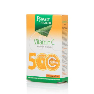 POWER HEALTH - Vitamin C 500mg - 36chew.tabs