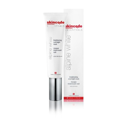 Skincode - Alpine White Brightening Overnight Mask, Μάσκα Νυκτός - 50ml