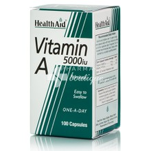 Health Aid Vitamin A 5000iu, 100caps