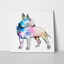 Bull terrier grunge illustration 171023327 a