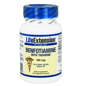 Life extension benfotiamine with thiamine 100mg 120caps enlarge