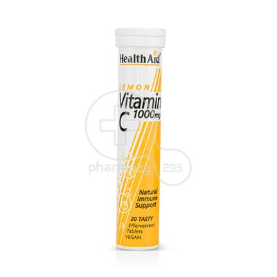 HEALTH AID - Vitamin C 1000mg (λεμόνι) - 20eff.tabs