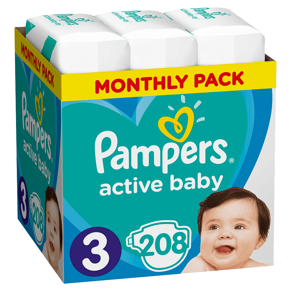 136265  pampers   monthly pack active baby   3  6 10kg    208       8001090910745