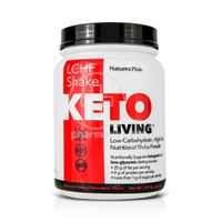 NATURES PLUS - KETOLIVING LCHF Shake (Low Carbohydrate High Fat - Chocolate) - 675gr