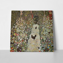 Klimt garden path with chickens