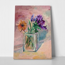 Sunflower and irises vase 217848964 a