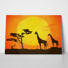 African wildlife sunset 3 a