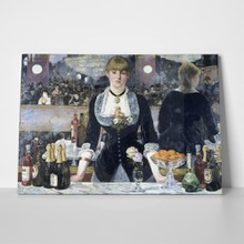 A bar at the folies bergere manet a