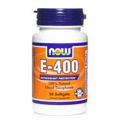 Now Foods Vitamin E-400IU Mixed Tocopherols/Unsterified 50 Softgels
