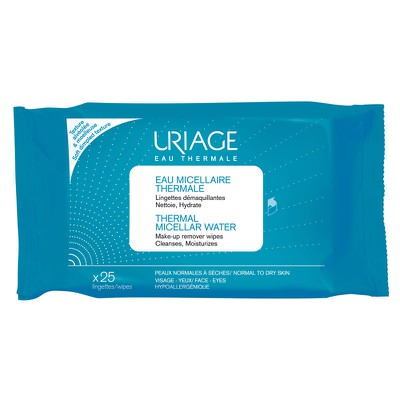 Uriage - Eau Micellaire Thermale Lingettes Demaquilantes - 25wipes