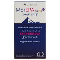 MINAMI NUTRITION MOR EPA MINI SMART FATS  60 STRAWBERRY FLAVOR SOFTGELS