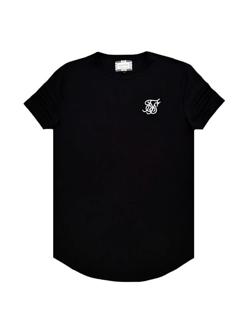 SikSilk Short Sleeve Gym Tee – Black