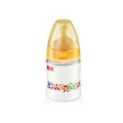 ΝUK FIRST CHOICE Plastic Feeding Bottle with rubber nipple 150ml size 1