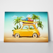 Beach funny retro car 262941035 a