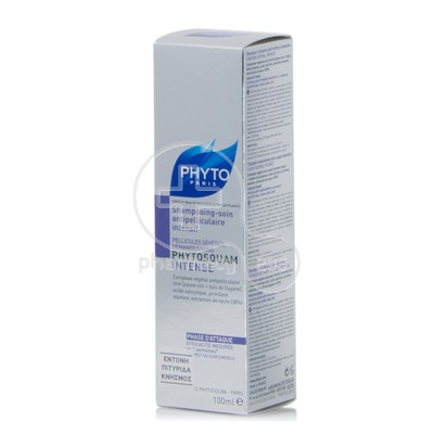 PHYTO - PHYTOSQUAM Shampooing - soin Antipelliculaire Intense - 100ml