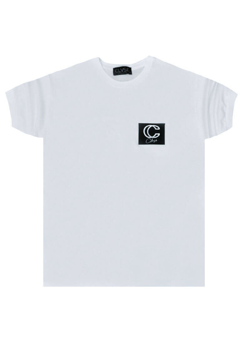 CLVSE SOCIETY WHITE T-SHIRT 506 WITH 3D LOGO