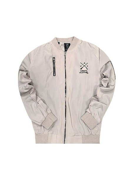 VINYL ART CLOTHING BOMBER JACKET OFF WHITE