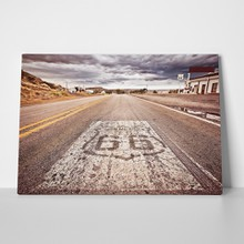 Cloudy route66