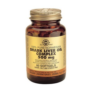 Solgar shark liver oil complex 500mg 60s