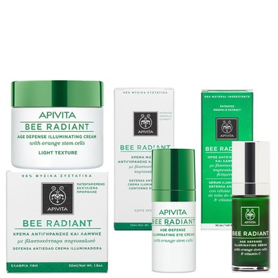 Bee radiant light cream   eyes   serum
