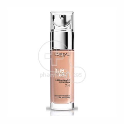 L'OREAL PARIS - TRUE MATCH Super Blendable Foundation No3N (Beige Creme) - 30ml