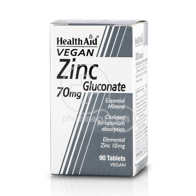 HEALTH AID - Zinc Gluconate 70mg - 90tabs