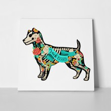 Stylized skeleton jack russell terrier 477793900 a