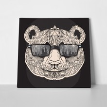 Panda line art glasses 508625344 a