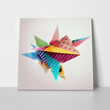 Square Canvas Print 3D GEOMETRIC SHAPES - Sticky