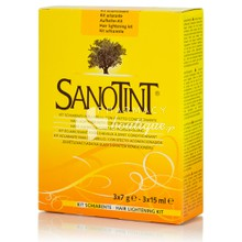 Sanotint Hair Lightening Kit - Ξανθιστικό Σετ, 3 x 15ml