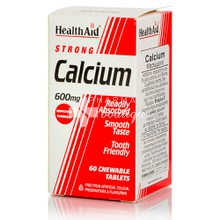 Health Aid CALCIUM 600mg, 60chw. tabs