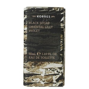 Korres eau de toilette       black sugar  oriental lilly   violet 50ml
