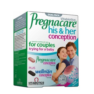 20161209134251 vitabiotics pregnacare his her conception dual pack 2x30 tampletes