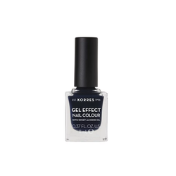 Korres Gel Effect Nail Colour Βερνίκι Νυχιών 88 Steel Blue 11ml