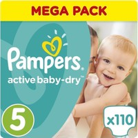 Pampers Mega Pack Active Baby Dry No.5 (11-18kg) 110 Πάνες