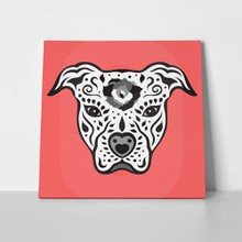 Pitbull terrier cute illustration 309225575 a