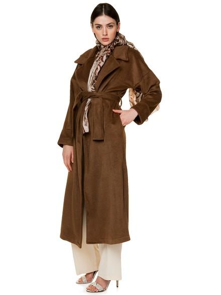 Μακρύ παλτό με ζώνη 016f01760ac