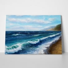 Wave at the beach painting a