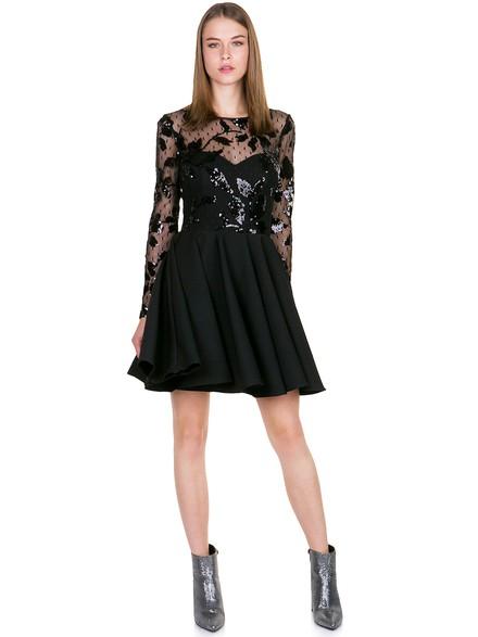 Φόρεμα με παγιέτες και διαφάνεια στο ντεκολτέ 2fc38a760e4