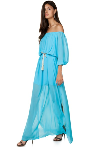 Maxi off shoulder φόρεμα