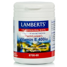 Lamberts Vitamin E Natural 400iu, 60caps
